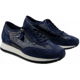 Gabor 56.338.66 Women Sneaker - Blue suede WIDE FIT