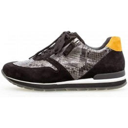 Gabor 56.369.33 Women Sneaker - Black leather/suede
