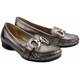 Gabor slip-on 84.202.69 metallic silver leather