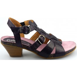 Gabor sandals 04.822.60 dark purple leather