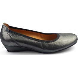 Gabor pumps 82.690.20  black-silver leather  WEDGES