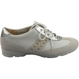 Gabor sneakers 42.555.50 white leather and suede