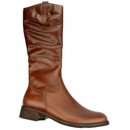Gabor boots 51.638.22 cognac brown leather     SMALL LEGWIDTH