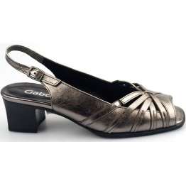 Gabor sandal 62.063.98 silver metallic leather