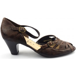 Gabor sandal 66.292.25 brown leather