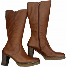 Gabor boots 72.877.25 cognac brown leather