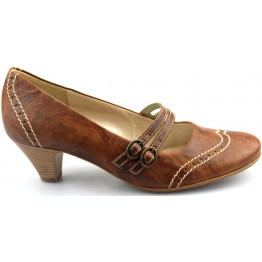 Gabor pumps 82.179.34 cognac leather
