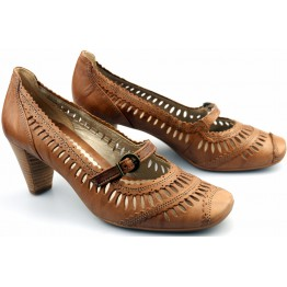 Gabor pumps 85.280.24 bamboo brown leather