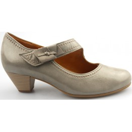 Gabor pumps 86.147.12 taupe metallic nubuck    WIDE FIT