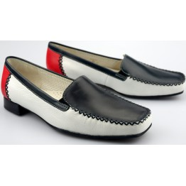 Gabor slip-on 86.340.69 black white red leather