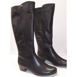 Gabor boots 56.617.57 black leather    WIDE FITTING