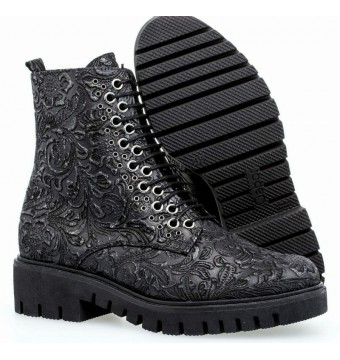 Gabor 92.788.87 black leather mid-high boot for women