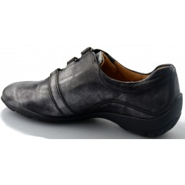 Gabor 52.597.63 silver leather shoe for women