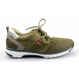 Gabor rollingsoft sensitive 26.975.34 green nubuck and mesh combi