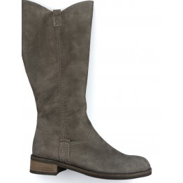 Gabor 32.799.30 dark grey soft nubuck long boot for women XXL LEG
