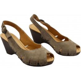 Gabor 45.731.13 grey suede pump sandal for women on wedges