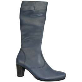 Gabor 56.596.56 navy blue leather long boot for women    LEG WIDTH MEDIUM