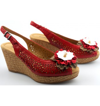 Gabor sandals 62.832.18 red leather   WEDGES