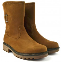 Gabor 91.813.84 nubuck mid-high boot for women brown