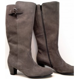 Gabor boots 36.589.30 dark grey soft nubuck     WIDE FIT and WIDE LEG