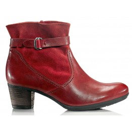 Gabor 56.663.28 red leather nubuck ankle boots for women
