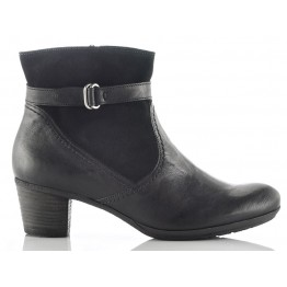 Gabor 56.663.17 black leather ankle boots for women