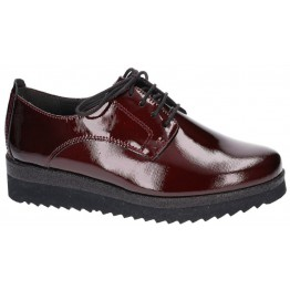Gabor lace shoes 72.555.88 bordeaux red leather