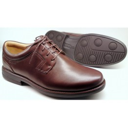 Clarks CARTER AIR chestnut leather WIDE FITTING
