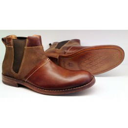 Clarks GETIT BOOT brown leather chelsea boot for men