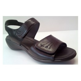 Clarks sandal OPEN HOUSE2 black leather EXTRA WIDE