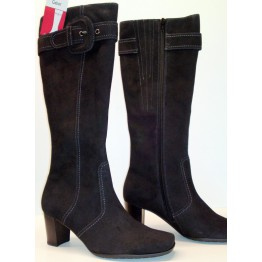 Gabor boots 15.686.17 black suede     SMALL LEGWIDTH