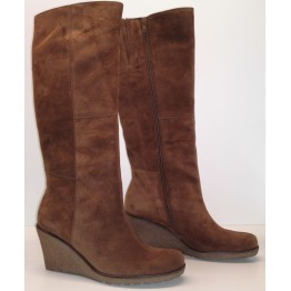 Gabor boots 51.689.14 cognac brown suede   WEDGES